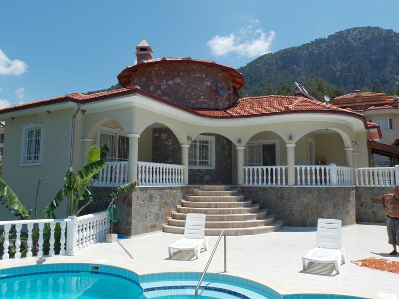 Wunderschöner Exklusiver Bungalow mit Pool und Garten - in Dalaman